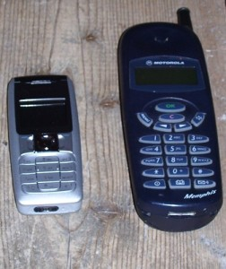 Old and new phones, side by side